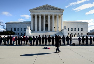 Going past the US Supreme Court in Washington DC, we witnessed a protest (about abortion), the guards would not let the ...