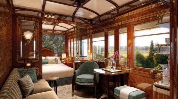 A CGI of the Paris Suite, one of three new rooms coming to the Venice Simplon-Orient-Express.