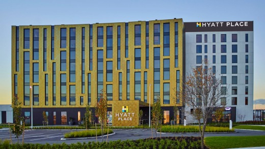 The exterior of Hyatt Place.