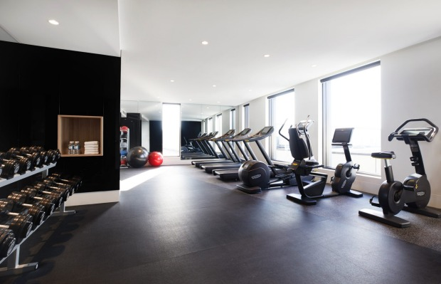 The hotel's gym.