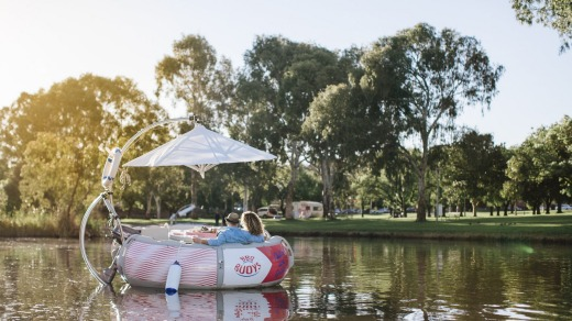 BBQ Buoys on the River Torrens in Adelaide.