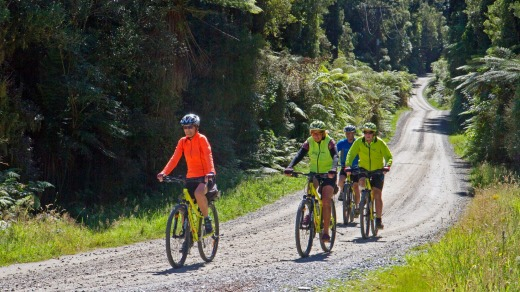 The West Coast Wilderness Trail rewards cyclists with an array spectacular riding.