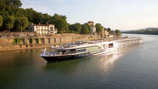 The Avalon Poetry II on the Saone River in Lyon, France.
