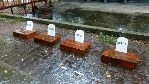 Havana Ernest Hemingway's dog graves at his bungalow.