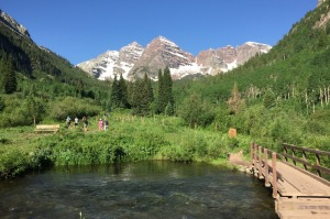 Hiking at Maroon Bells.