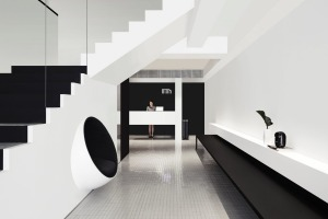 The chic lobby of Hotel Mono, Singapore, sets the tone.