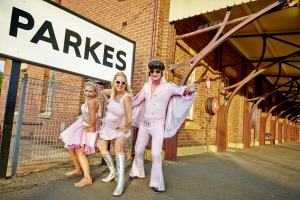 Parkes, NSW, undergoes a retro makeover every January as thousands of people get dressed up for its week-long Elvis festival.