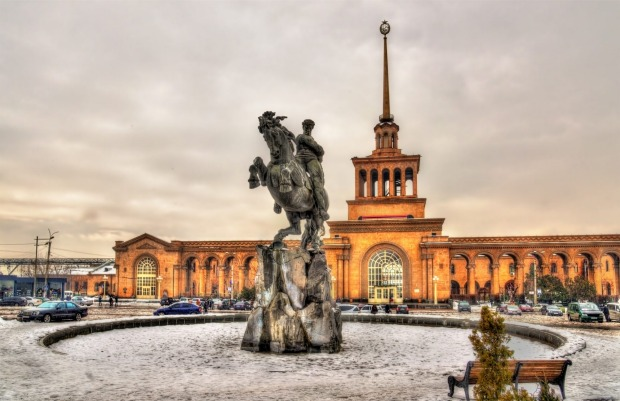 David of Sassoun statue and Yerevan Railway Station, Armenia. WHY GO Mighty mountains, ancient monasteries, superb food ...