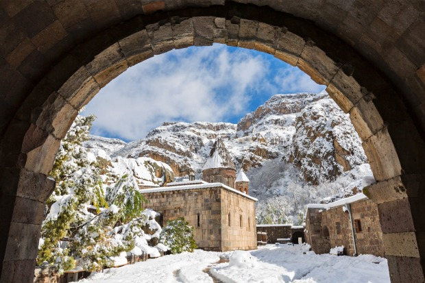 Geghard Monastery, Armenia. WHY GO Mighty mountains, ancient monasteries, superb food and old-fashioned tea houses: ...