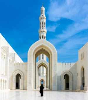 The Sultan Qaboos Grand Mosque in Muscat.