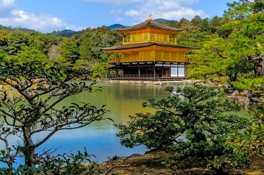 Golden Pavilion and gardens Kyoto Japan