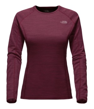 The North Face long-sleeve crew neck has a slim, next-to-skin fit.