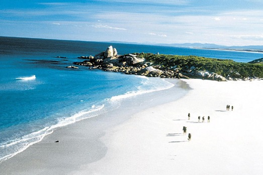 "Bay of Fires, Tasmania. These beaches are perfect and there's usually no one there ? although that may change since Lonely Planet listed it as its ""world's hottest travel destination for 2009""."