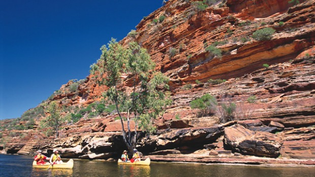 Kalbarri National Park, WA. Canoeing through the magnificent red and white banded gorges of Kalbarri National Park is something everyone should do before they die.