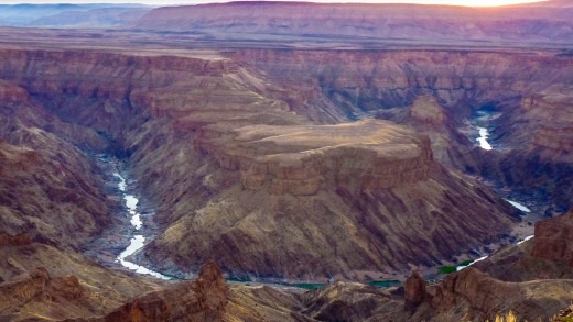 The view over Fish River Canyon in Namibia.
