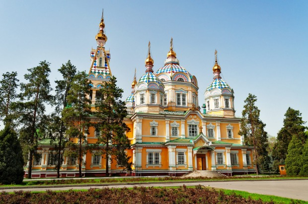 Ascension Cathedral is a Russian Orthodox cathedral located in Panfilov Park.