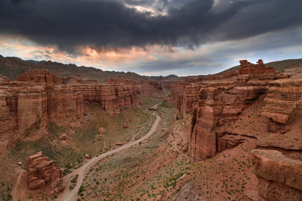 Charyn Canyon and the Valley of Castles, known as 'Grand Canyon of Kazakhstan'.