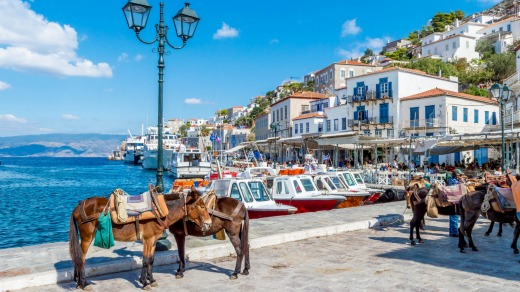The port of Hydra, Greece.