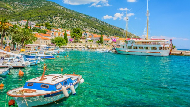 The village of Bol on the island of Brac, Croatia.