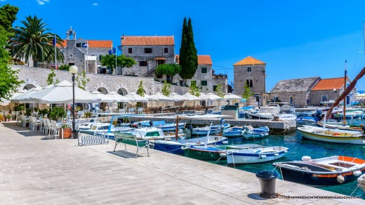 Bol is a popular destination on the Croatian island of Brac.