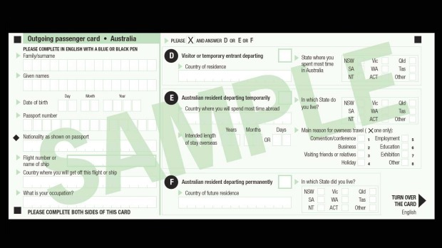 You'll no longer need to fill out the outgoing passenger card from July 1.