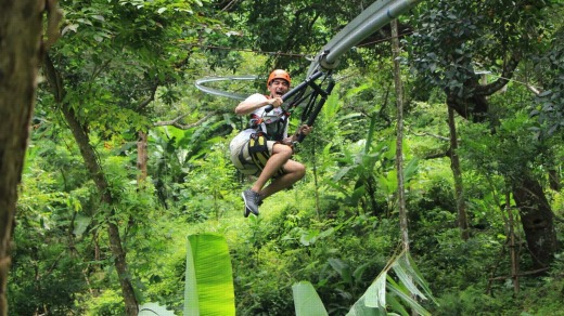 An array of zipline rides at Hanuman World provides visitors with plenty to scream about.