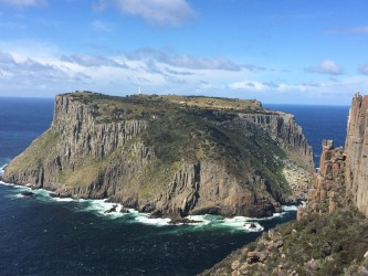 This is the stunning Tasman Island situated just off the South East Coast of Tasmania, taken with my phone  camera ...