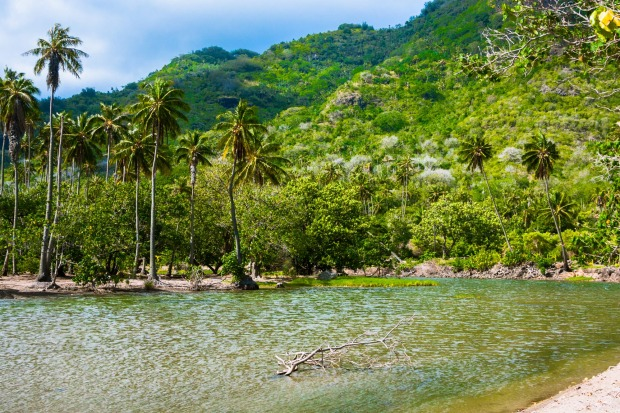Marquesas Islands: Nuku Hiva is the largest of the Marquesas Islands in French Polynesia.