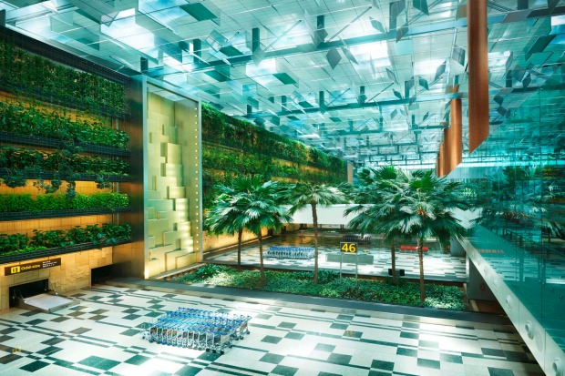 The Green Wall, Terminal 3, Changi Airport.
