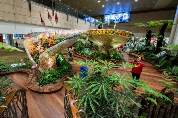 The Enchanted Garden in T2, Changi Airport.