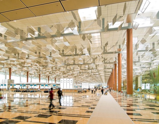Departure Hall of Changi airport Terminal 3.