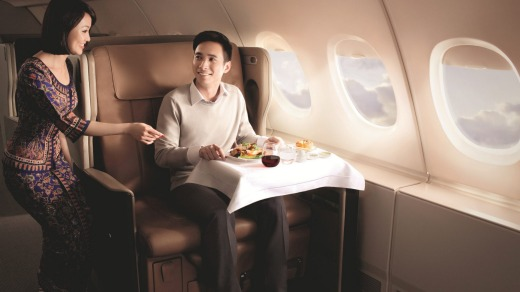 Singapore Airlines' reputation for excellent service is well-deserved.