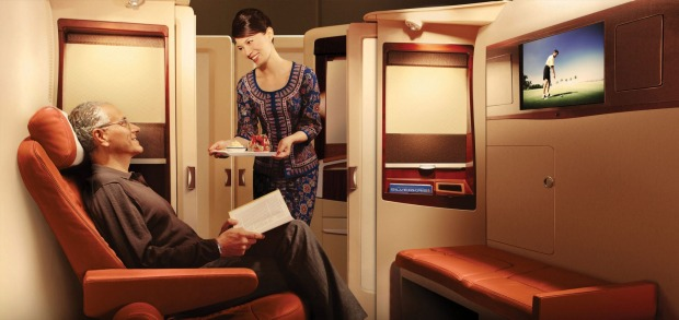 First class on board the Singapore A380.