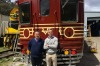 Tim Elderton (left), managing director of Lithgow Railway Workshop with Jeremy Holmes, development director Byron Bay ...