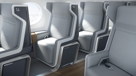 The interior seat designs for Boom's supersonic aircraft.