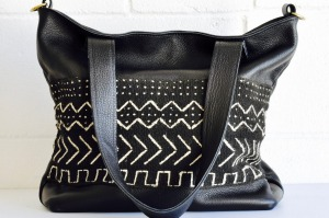 The Mudcloth Tote from Small World Dreams.
