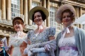 People dressed in period costume for the Jane Austen Festival in Bath.