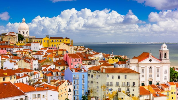 Lisbon, cityscape in the Alfama District.