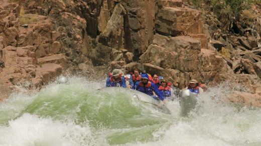 Rafting on the Colorado River.
