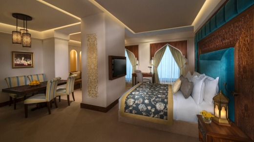 The spacious and elegantly furnished Souq Waqif rooms.