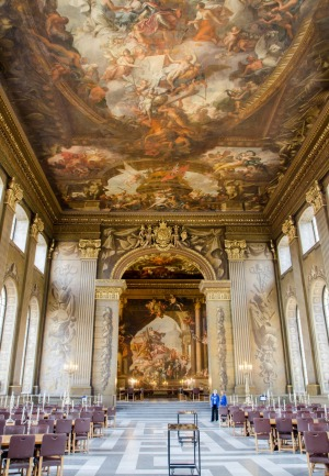 Greenwich University: Interior of Painted Hall in King William Court.