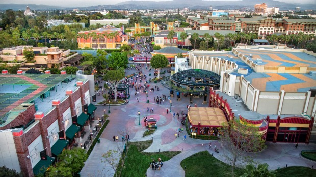 Downtown Disney, an avenue leading to the entrances of Disneyland and Disney California Adventure parks.