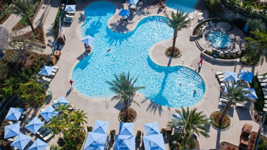 The largest pool at the Disneyland Hotel, the 4,800 square foot E-Ticket Pool is named after the ticket required to ...