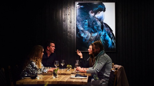 Friends enjoy a meal at Black Cockatoo.