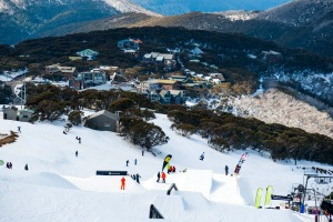 Skyline Terrain Park and village, Mt Buller.