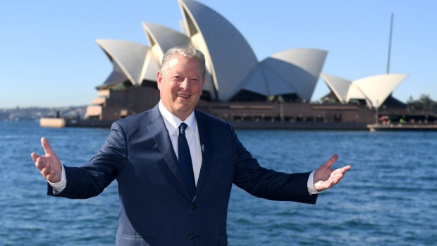 Al Gore in Sydney last month to promote An Inconvenient Sequel.