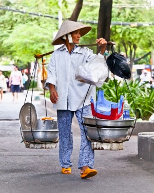 Get to know the food of Vietnam's bustling streets on a walking tour with chef Luke Nguyen.