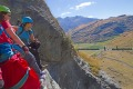 The ascent involves climbing 300 metres on hundreds of metal rungs and foot pegs, five plank bridges and a wire bridge.