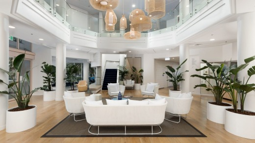 Light and bright: The lobby at Eventhouse.