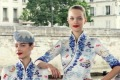 Hainan Airlines' debuted its new cabin crew uniform in Paris in 2017.